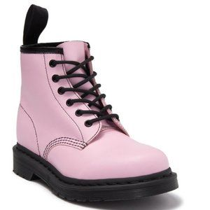 Dr. Martens 101 Winter Pink Leather Combat Boots